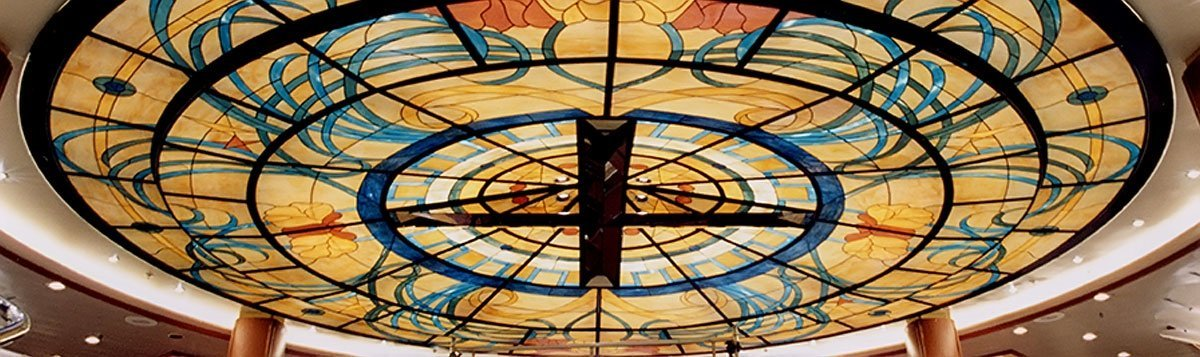 stained glass ceiling dome
