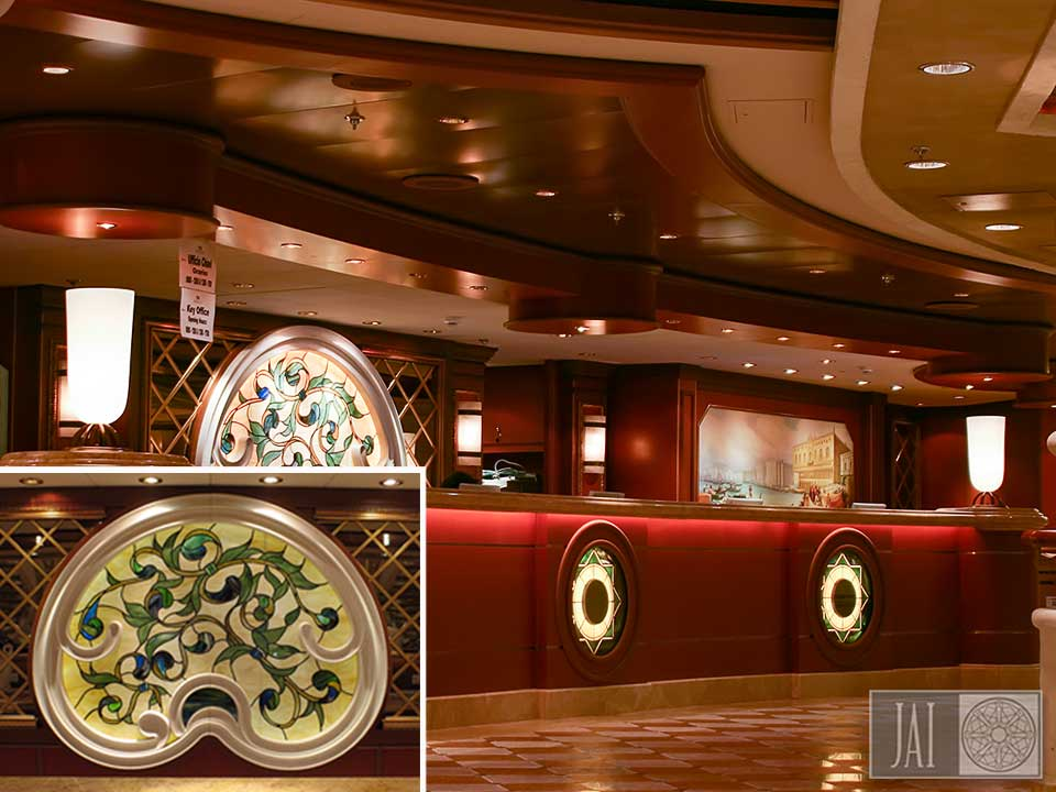 Crown Princess reception desk
