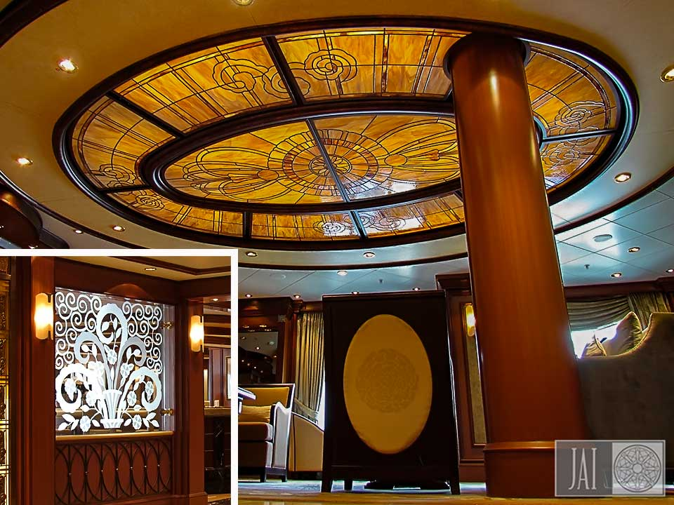 Cunard-Queen-Elizabeth-Cafe-Carinthia-Stained-Glass-Dome