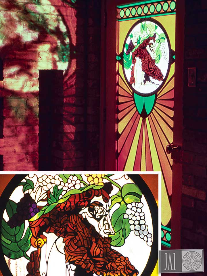 Private Residence Little Rock AK - Stained Glass Door