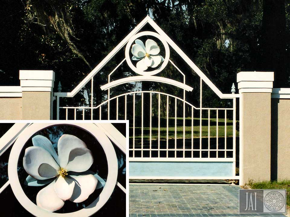 Magnolia Flower Iron Gate