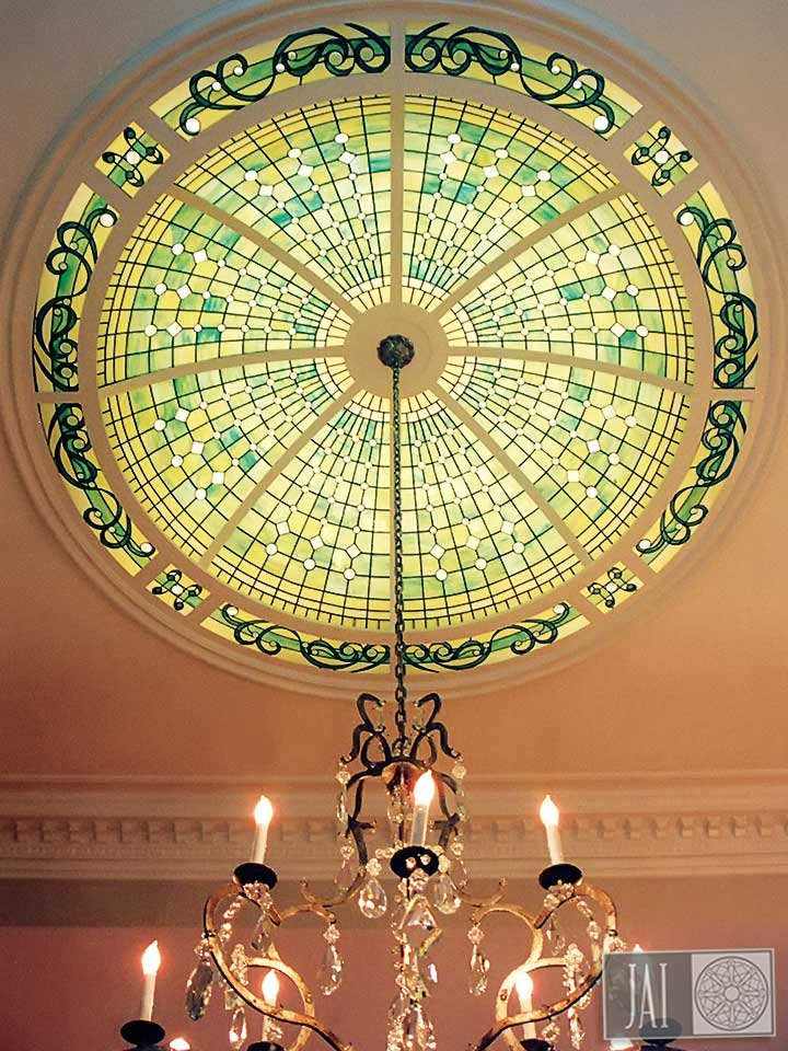 Rettig Residence Stained Glass Dome