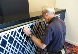 decorative grilles mounting