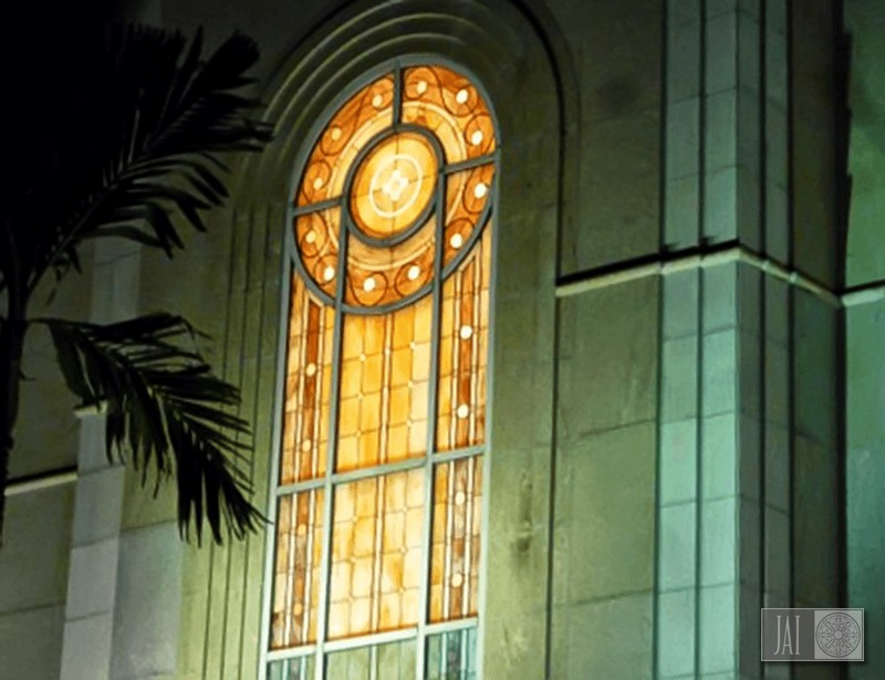 Latter-Day Saints Temple window in Santo Domingo