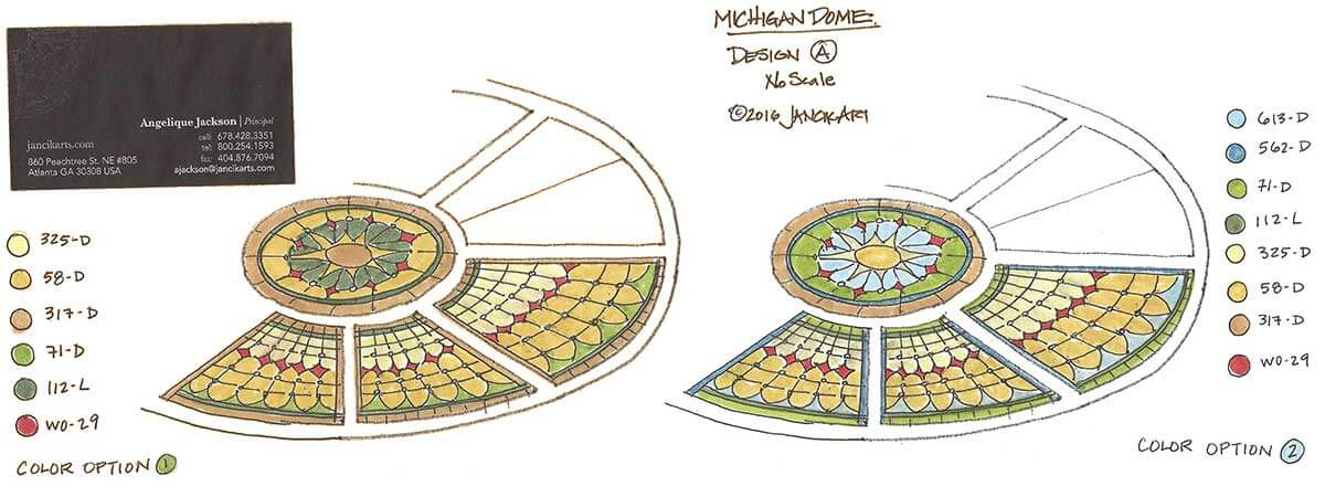 Michigan oval dome color options