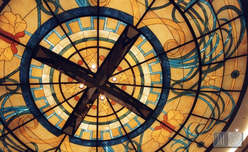 ocean princess atrium art nouveau ceiling dome detail