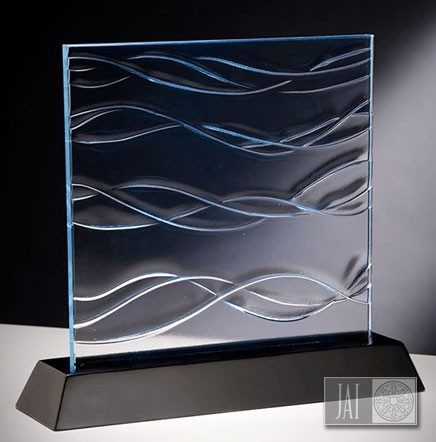 cast glass sample-ocean
