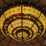 Ruby Princess chandelier closeup