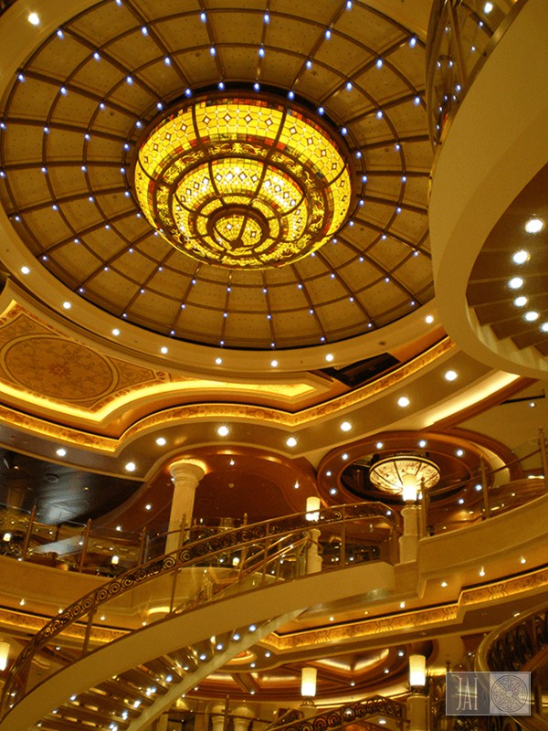 Ruby Princess atrium chandelier